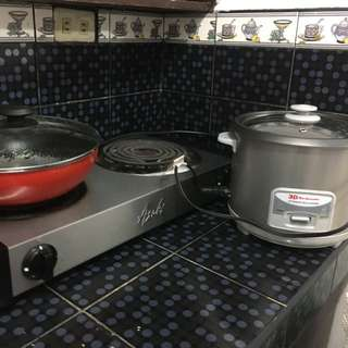 Induction stove with rice cooker