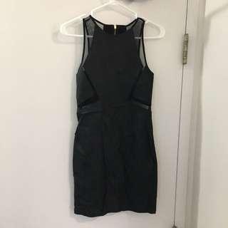 Black Cutout Part Dress Size Small