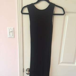 Brandy Melville long bodycon black dress