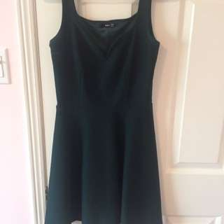 Forest Green topshop TFNC dress