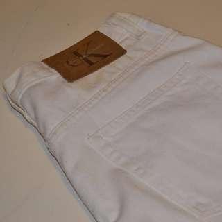 Mens Calvin Klein White Denim Jeans Size 30W