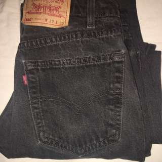 Black Levi's High waisted Old School Jeans