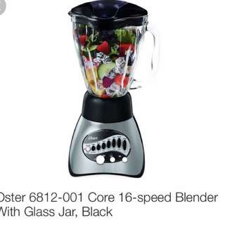 $50 Oster 16- Speed Blender With Glass Jar in Black