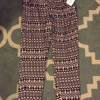 High Waisted Long Comfy Pants w/ design