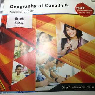 Grade 9 Academic geography workbook