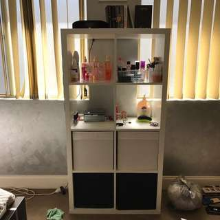 IKEA Kallax White Shelving Unit