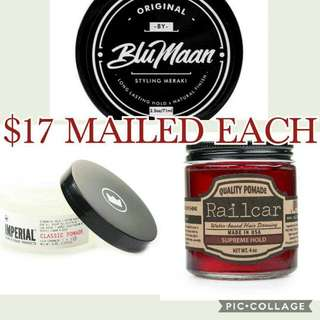 17 Only! Blumaan Railcar Fine Goods Imperial Pomade