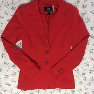 Basic Red Blazer (Size Small)