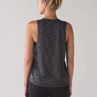 Authentic Lululemon Cardio Squad Tank II (Heathered Black) Size 6