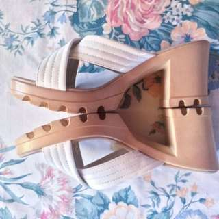 Blocked Nude Heels (Parisian) - Negotiable Price