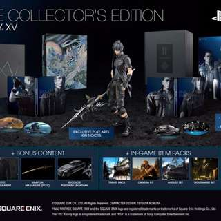BNIB FFXV Final Fantasy XV Collector's Edition PS4