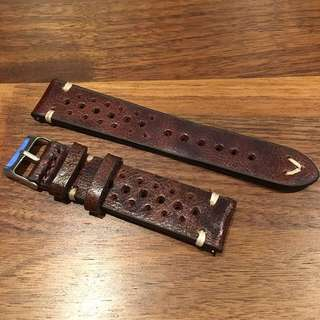 Vintage Chestnut Racing Strap 18/20/22mm (Comes with quick release spring bars)