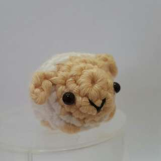 Sheep Crochet - Japanese Amigurumi White Sheep - Crocheted Sheep Plush Toy With Chain/Strap/Ornament Options