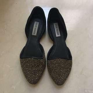 Steve Madden 黑金鑽 平底鞋 二手 正品