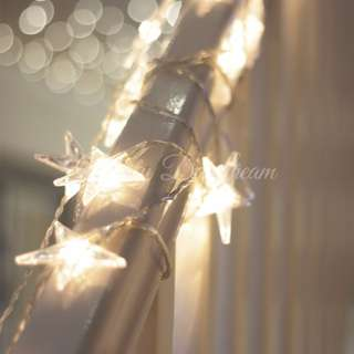 Star Christmas Fairy Lights (Battery Operated)