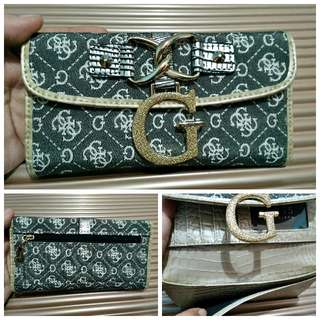 Brand New Guess Long Black Wallet
