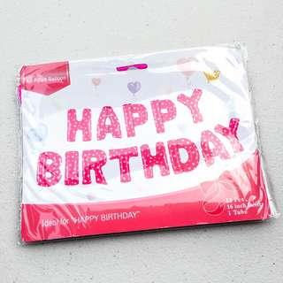 Happy Birthday set balloons (pink /blue)