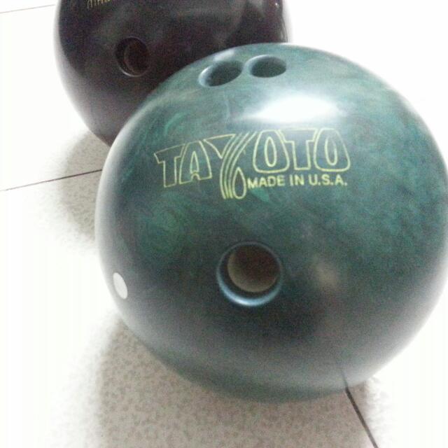 (#手滑買太多)…美國製保齡球,墨綠色,約10.8磅
