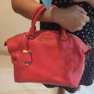 Michael kors riley leather medium satchel