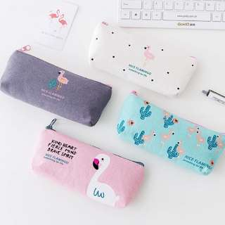 Flamingo Pencil Case / Cosmetic Pouch