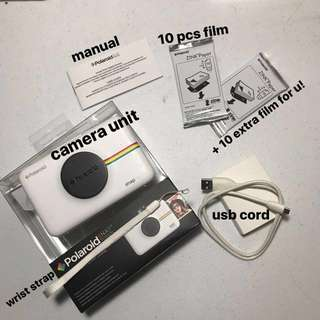 Polaroid Snap Touch Instant Print Digital Camera With LCD Display (White) with Zink Zero Ink Printing Technology (+ extra 10 pieces of film for free)