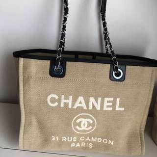 AUTHENTIC PREOWNED CHANEL DEAUVILLE TOTE MEDIUM