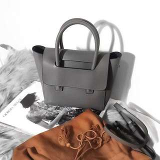Genuine Calf Leather Minimalist Flap Closure Bag In Mini (RRP $220)