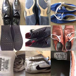 4 casual shoes including Nike and 1 formal shoe