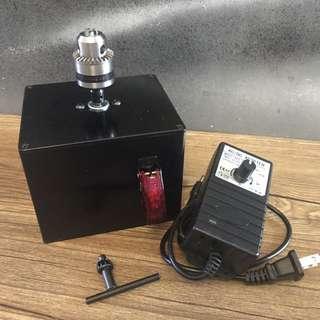 Leather craft tool table top hands free auto burnishing machine Jamjarleather