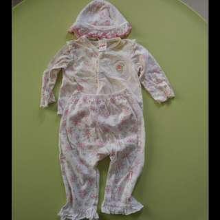[Free Postage] PIGEON baby Set 0-6M Long Shirt + Long Pant + Cap