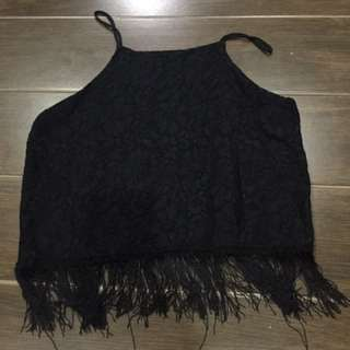 Fringe Halter Top
