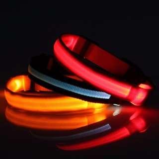 TPE023 LED Nylon Pet Dog Cat Collar Light Night Safety Light-up Flashing Glow Dog Cat Collar Lead Necklace Leash