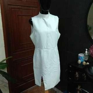 Forever21 White Slit Dress