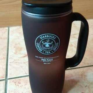 STARBUCKS壓克力杯,美國西雅圖第一家創始店購入,