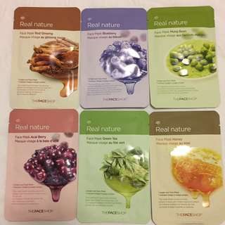 TheFaceShop Real Nature Face Mask Set