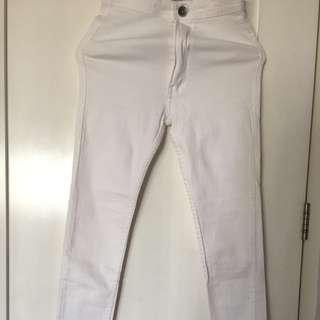 Punny white highwaist jeans
