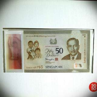 1 Set SG50 Commerative Notes($100)
