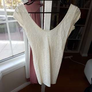 White lace Dress in size XS