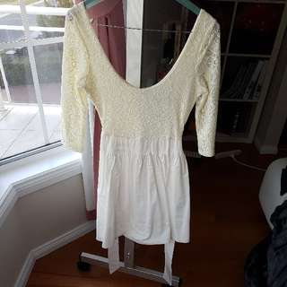 Forever New White Lace Dress in size 8