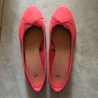 H&M red flatshoes