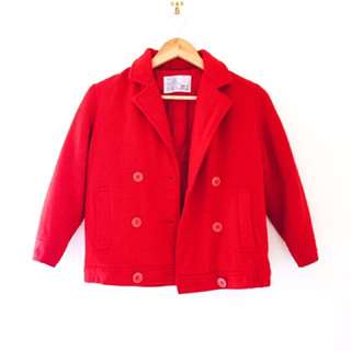 Vintage wool 3/4 crop coat
