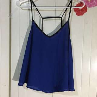 Forever 21 blue sexy top
