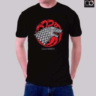 Game of Thrones Tshirt for Men - Stark/Targaryen