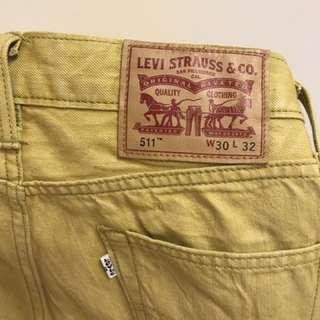 Levi ~洗水黃色牛仔褲