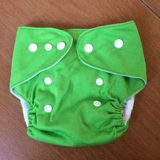 Green Lovable Lampin Cloth Diaper