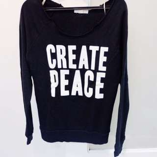 Forever21 Create Peace Sweater