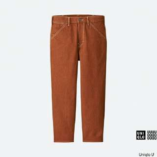 High Rise Wide Fit Jeans in Burnt Orange