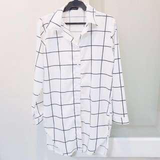 White Checkered Polo