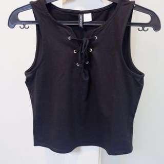 H&M Black Lace up Sleeveless