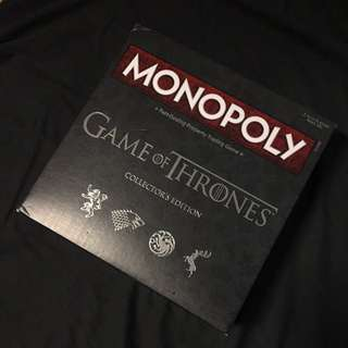 全新 Game of Thrones Collector's Edition Monopoly 大富翁